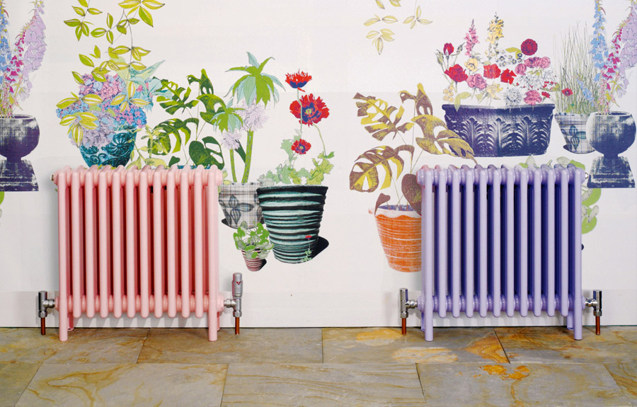 Complementing radiators with wallpapers
