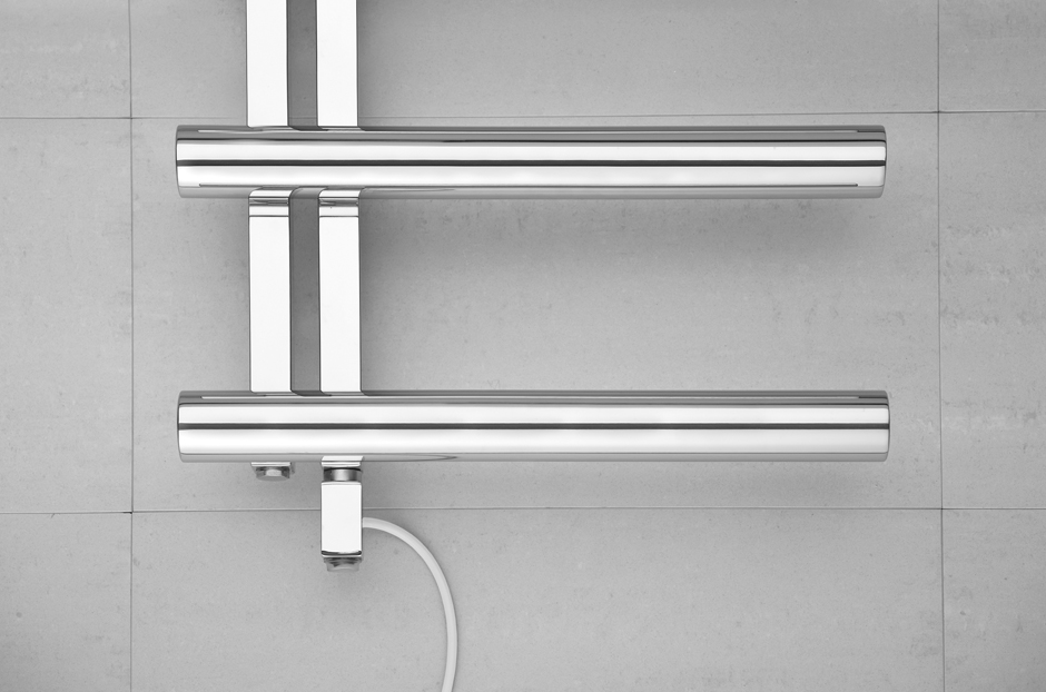 Towel Warmer shown in Stainless Steel Mirror finish