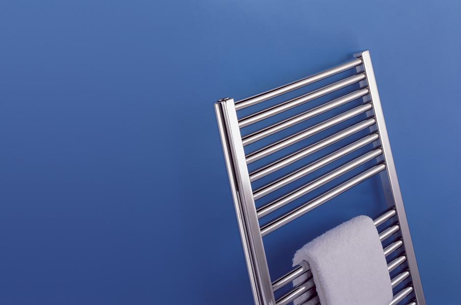 Towel rail shown in Chrome finish