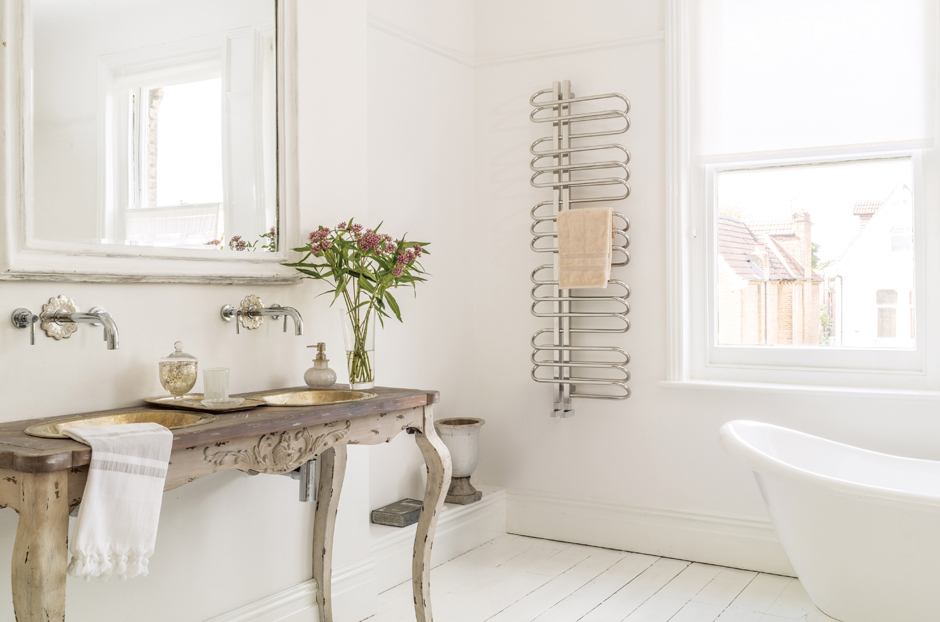 Towel rail shown in Stainless Steel Mirror finish