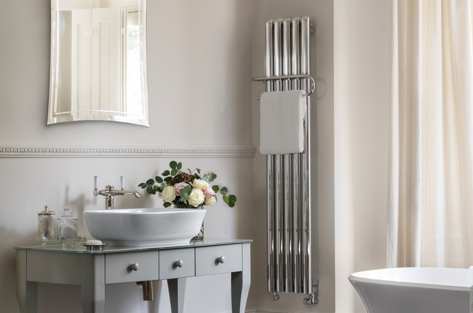 Radiator shown in Stainless Steel Mirror finish
