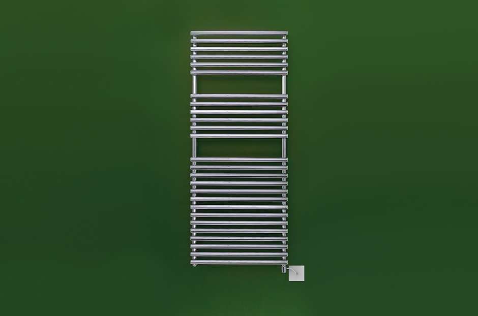 Towel rail shown in Chrome finish