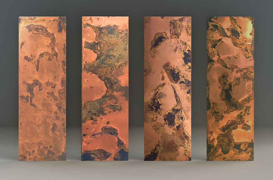 Radiator show in Etched Copper finish