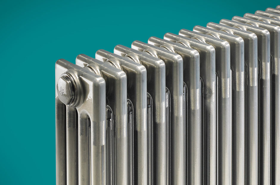 Radiator shown in Lacquered Bare Metal finish