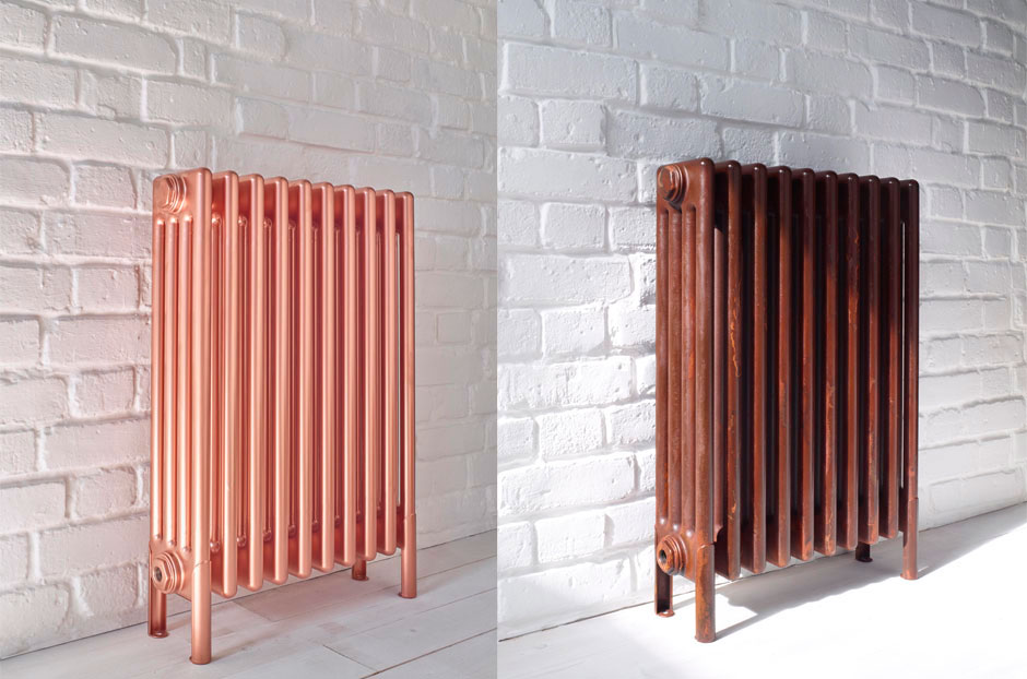 Radiator shown in Rose Copper and Rustique