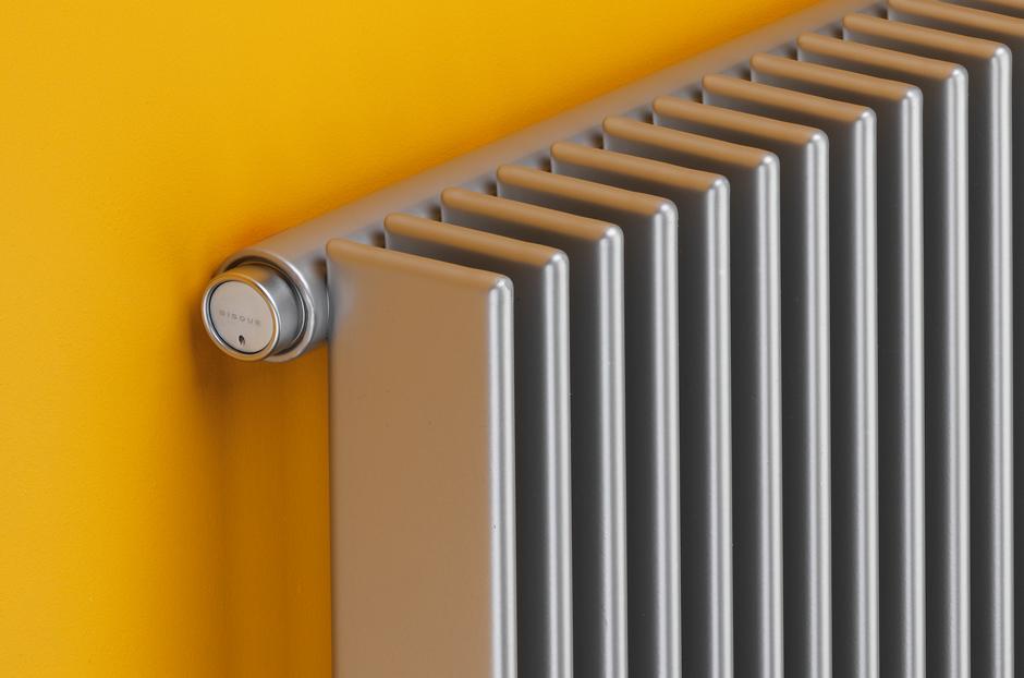 Radiator shown in Aluminium finish