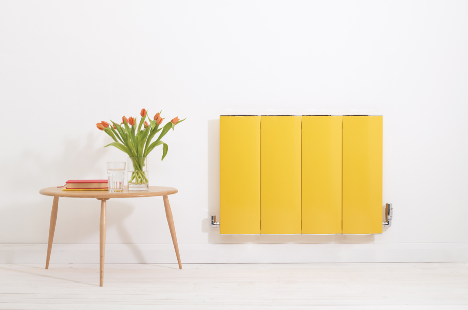 Radiator shown in Traffic Yellow RAL 1023