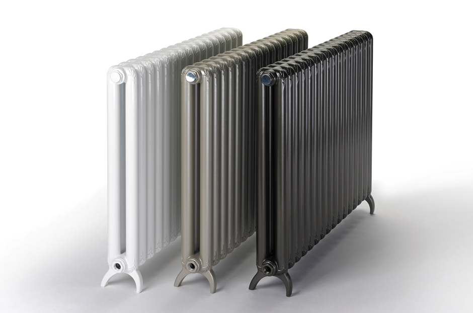 Radiators shown in White RAL 9010, Champagne and Marron finishes