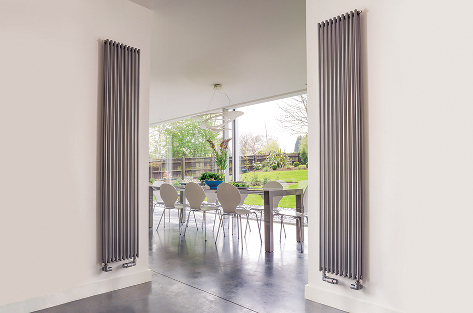 Radiator shown in Titane finish